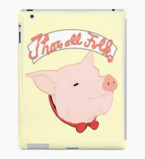 Porky Bow-Tie iPad Case/Skin