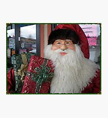 Pet Store Santa Photographic Print