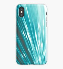 light blue optic fiber iPhone Case/Skin