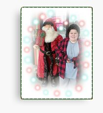 Michael And The Pet Store Santa Canvas Print