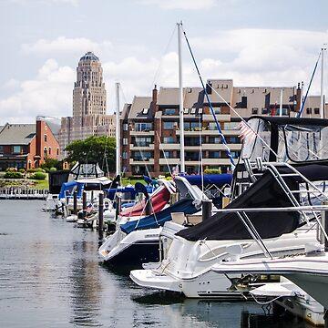 Boats in Erie Basin Marine in Buffalo, New York by travispowers