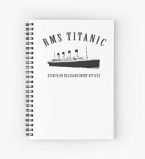 RMS Titanic Deckchair Rearrangement Officer Spiral Notebook