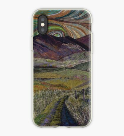 The Road Less Travelled - Embroidery - Textile Art iPhone Case