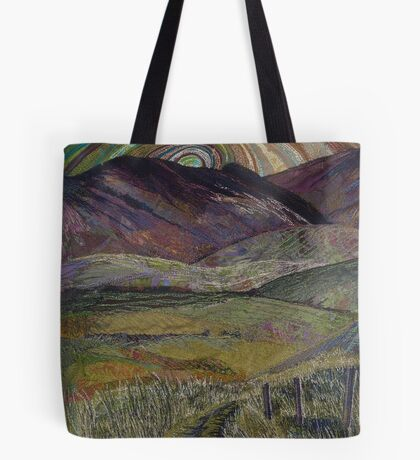 The Road Less Travelled - Embroidery - Textile Art Tote Bag