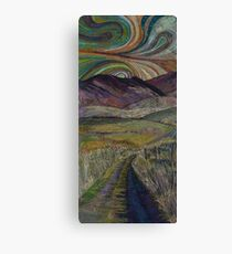 The Road Less Travelled - Embroidery - Textile Art Canvas Print
