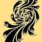 Happy Splash - 1-Bit Oddity - Black Version by knitetgantt