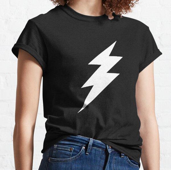 White Lightning Bolt Classic T-Shirt