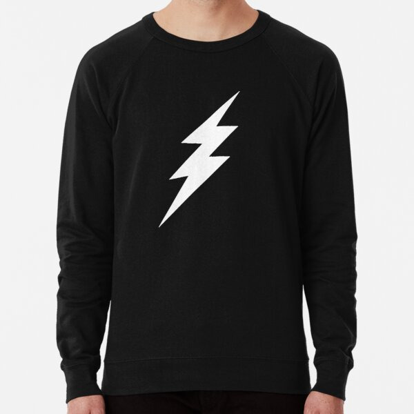 White Lightning Bolt Lightweight Sweatshirt