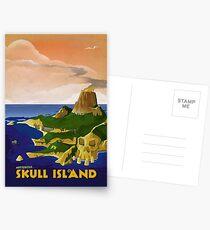 Skull Island - King Kong Retro Travel Poster Postcards