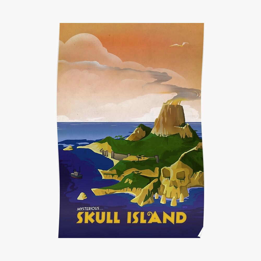 Skull Island - King Kong Retro Travel Poster Poster