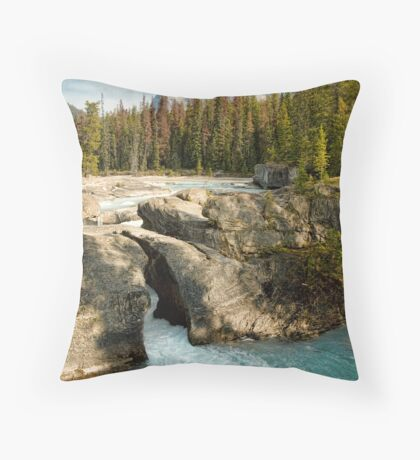 Natural Bridge, Kicking Horse River Throw Pillow