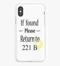 If found 221B iPhone Case/Skin