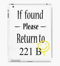 If found 221B iPad Case/Skin