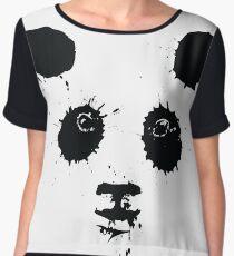 Painted Panda Bear Chiffon Top