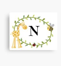 Nursery Letters N Canvas Print