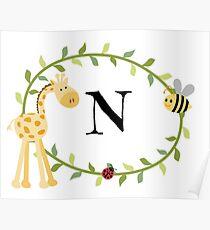 Nursery Letters N Poster