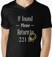 If Found Please Return to 221B Men's V-Neck T-Shirt