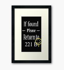 If Found Please Return to 221B Framed Print