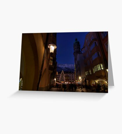 when christmas comes to town Greeting Card