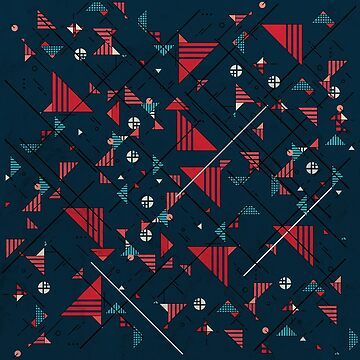 Geometric Abstract Red Pattern by tobiasfonseca