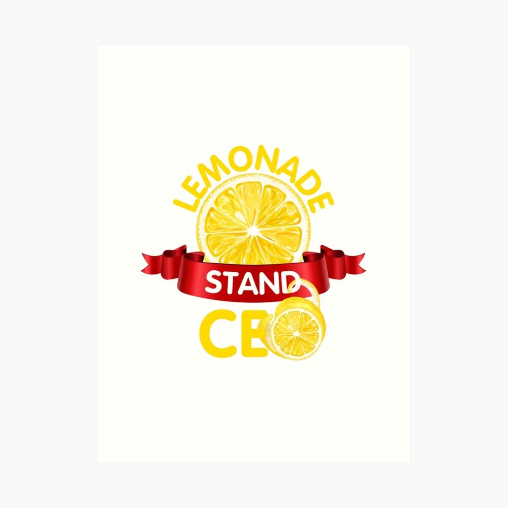 CEO de Lemonade Stand Lámina artística