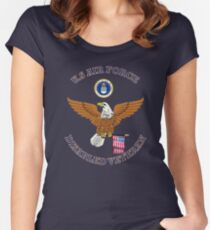 US Air Force Disabled Veteran Eagle Shield Women's Fitted Scoop T-Shirt