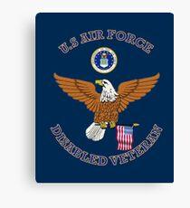 US Air Force Disabled Veteran Eagle Shield Canvas Print
