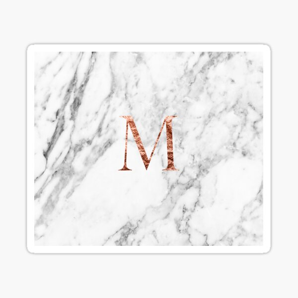 Monogram rose marble M Sticker
