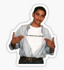 young barack obama Sticker