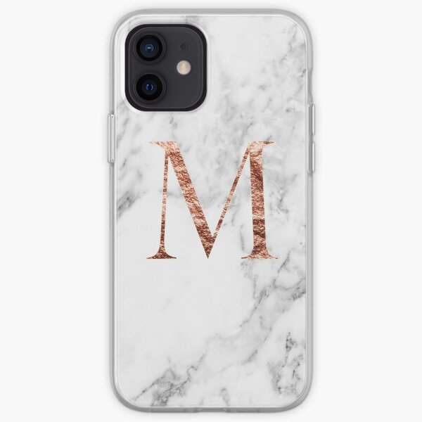 Monogramme marbre rose M Coque souple iPhone