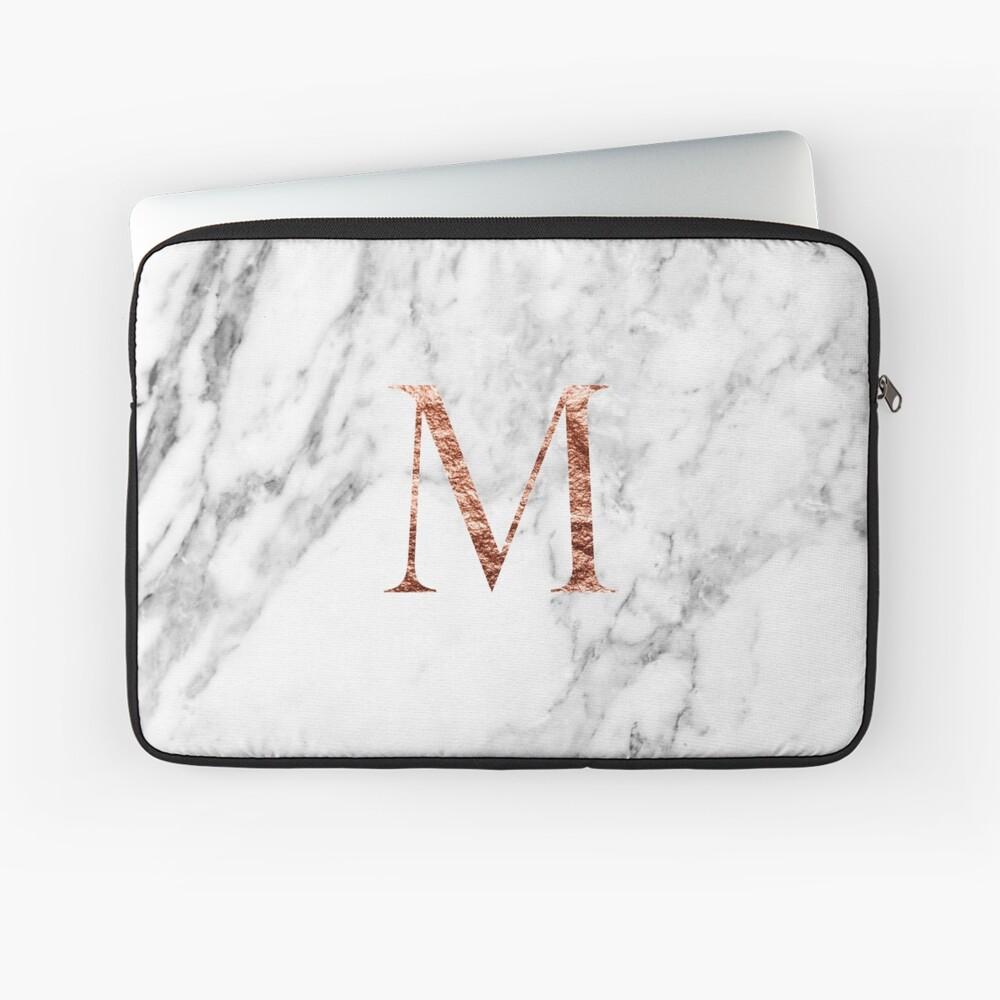 Monogram rose marble M Laptop Sleeve