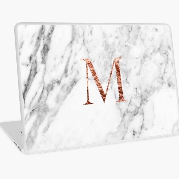 Monogram rose marble M Laptop Skin