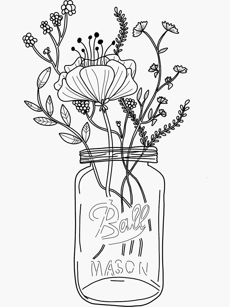 Wildblumen in einem Einmachglas von paularangel95