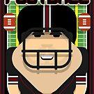 American Football Black and Maroon - Enzone Puntfumbler - Victor version by boxedspaper