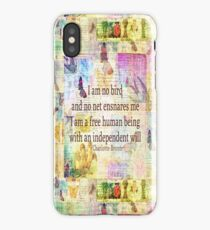 Charlotte Bronte independence quote  iPhone Case/Skin