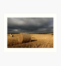 Stormy Bales Art Print