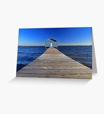 Crawley Edge Boatshed  Greeting Card