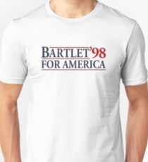 West Wing Bartlet For America 1998  Unisex T-Shirt