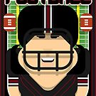 American Football Black and Maroon - Hail-Mary Blitzsacker - Amy version by boxedspaper