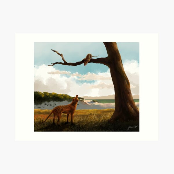 The Thylacine and the Quoll Art Print