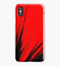 red black iPhone Case/Skin