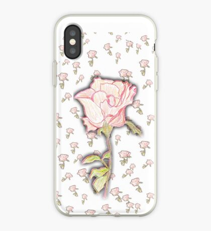 Baby Rose Sketch iPhone Case