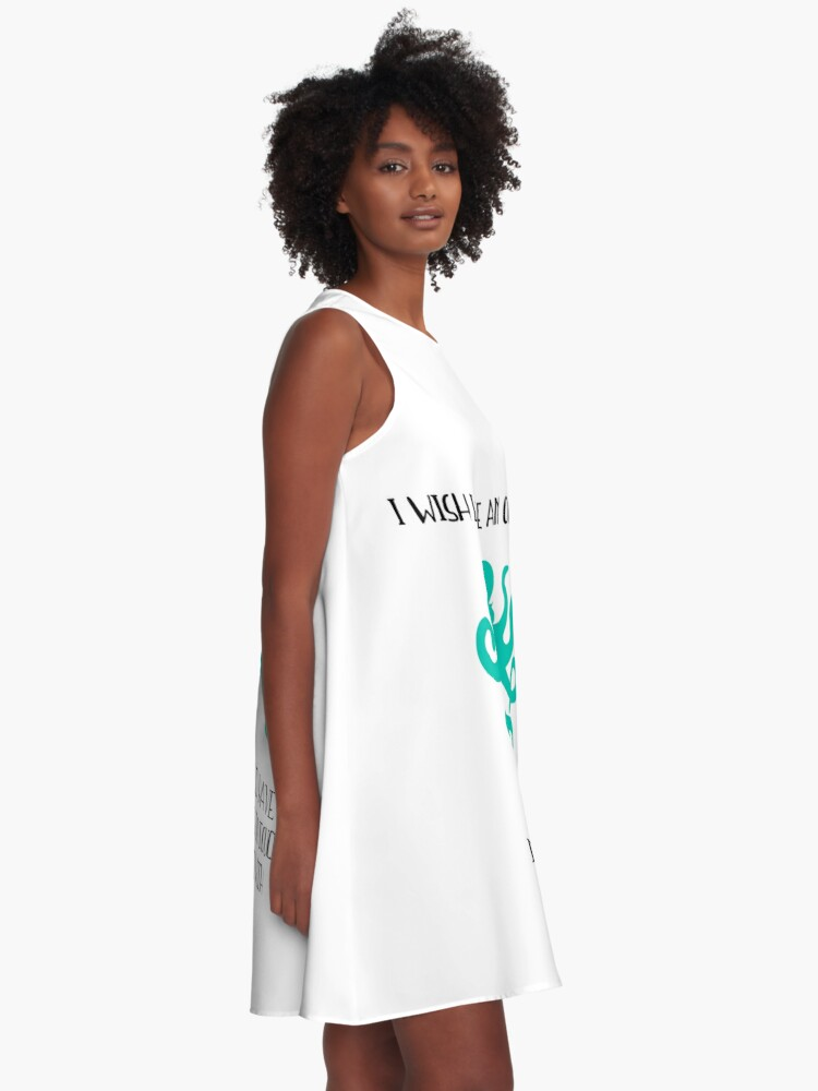 Alternate view of I wish I were an octopus A-Line Dress