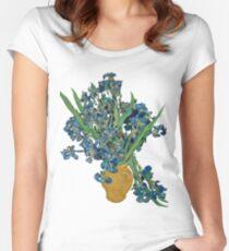 Van Gogh Iris Grunge Fitted Scoop T-Shirt