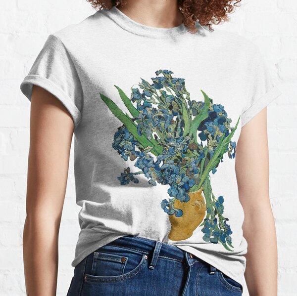 Van Gogh Iris Grunge Camiseta clásica