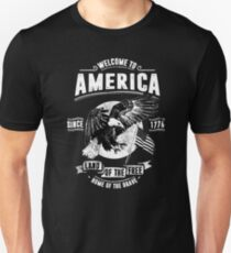 Welcome To America - USA Retro Vintage Unisex T-Shirt