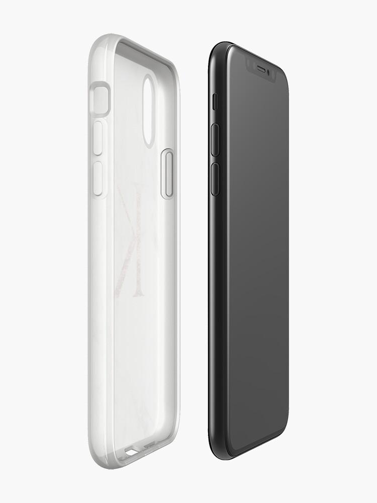 Alternative Ansicht von Monogramm Rosenmarmor K iPhone-Hüllen & Cover
