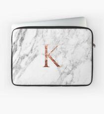 Monogram rose marble K Laptop Sleeve