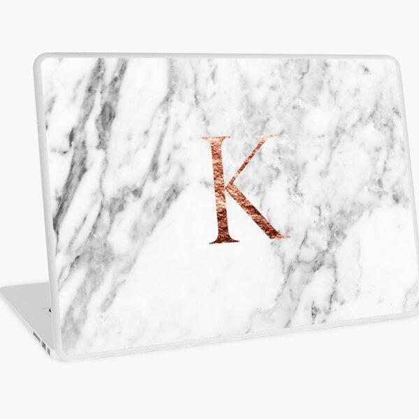 Monogram rose marble K Laptop Skin