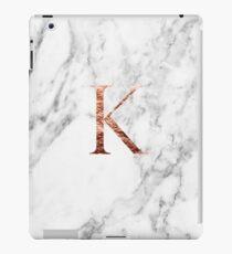 Monogram rose marble K iPad Case/Skin